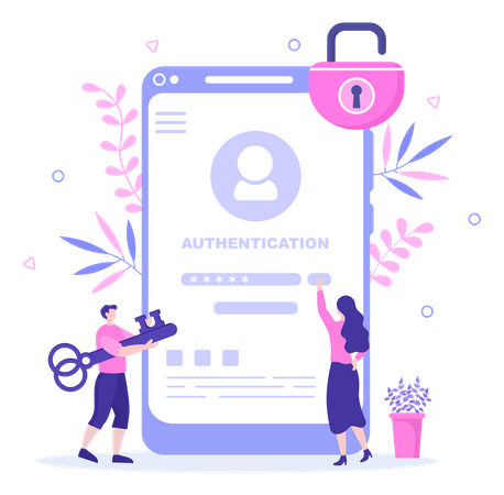 Authentication Security Illustration
