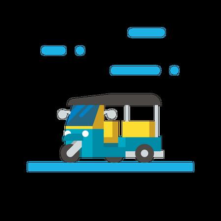 Auto rickshaw Illustration