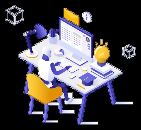 Automated education Illustration