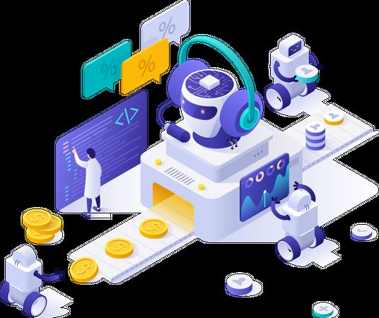 Automated marketing Illustration