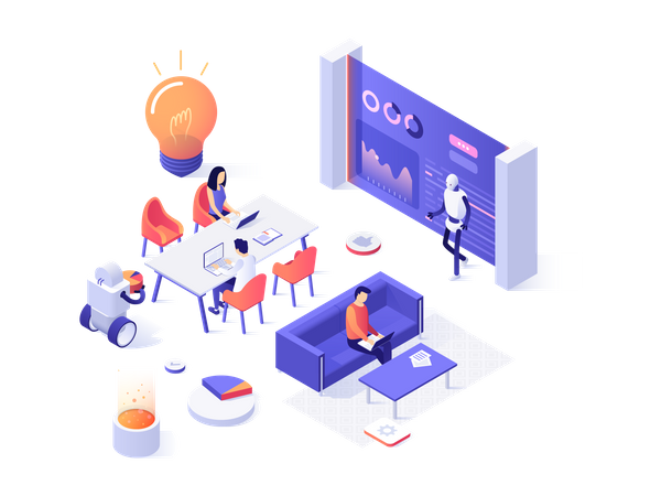 Automated Workspace Illustration
