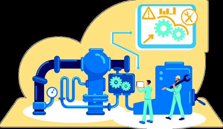 Automatization of machinery Illustration