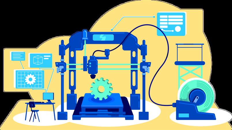 Automatization of production Illustration