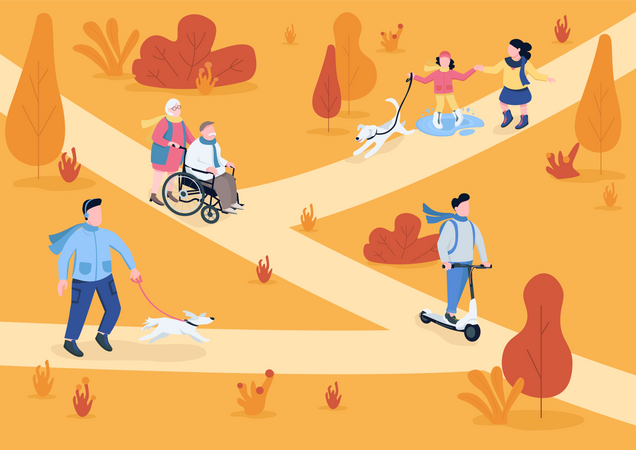 Autumn park Illustration