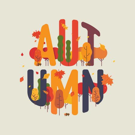 Autumn park theme Illustration