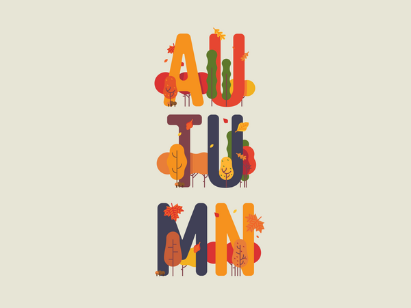 Autumn themed banner Illustration