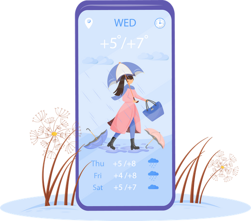 Autumn weather application Illustration