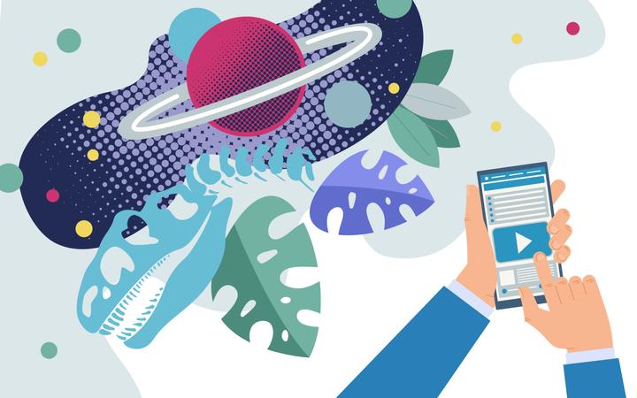 Available Scientific Data on Internet Illustration