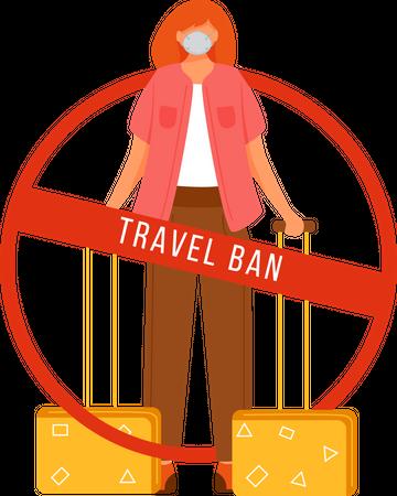 Avoid travel Illustration