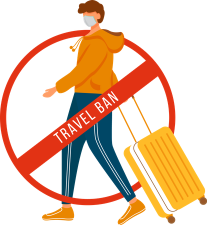 Avoid traveling Illustration