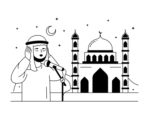 Azan Illustration