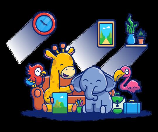 Baby animals Illustration
