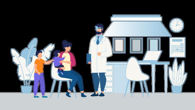 Baby or kid medical checkup Illustration