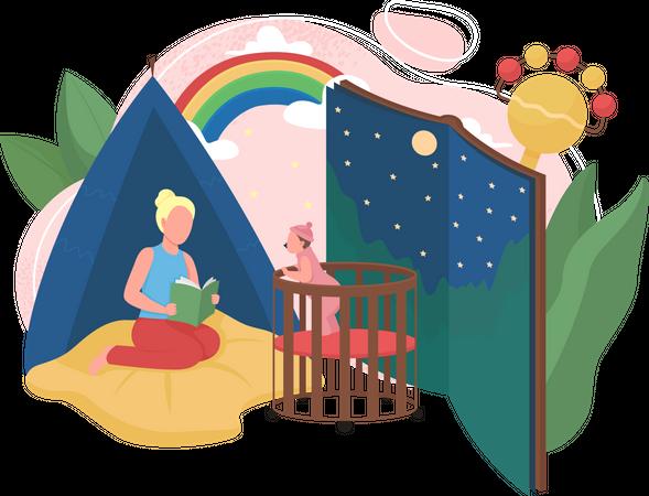 Babysitting Illustration