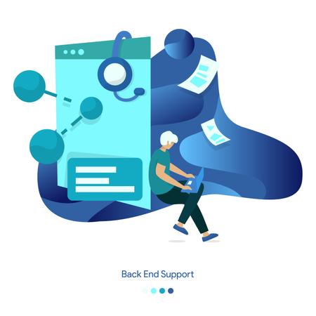 Background Illustrations of Back End Support Illustration