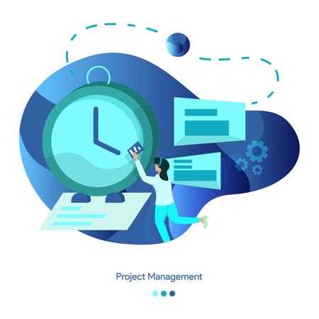 Background Illustrations of Project Management Illustration