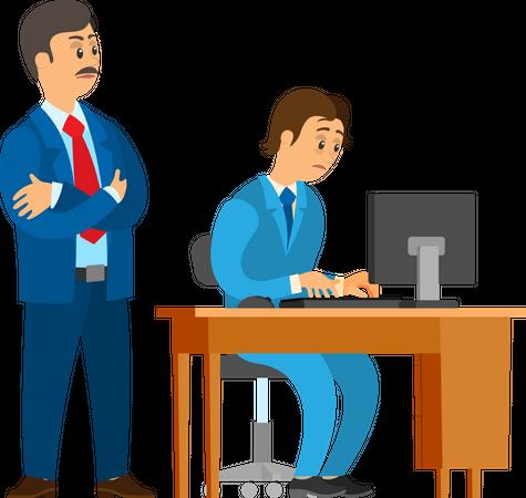 Bad Job and Worker Control Illustration