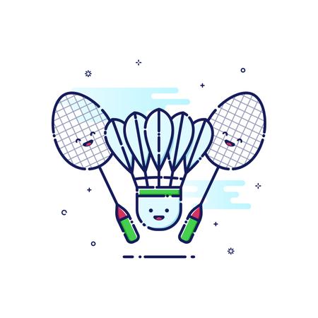 Badminton Sport Illustration