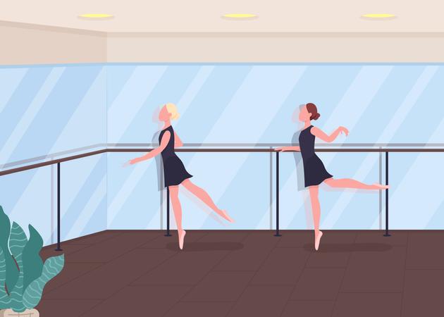 Ballet lesson Illustration