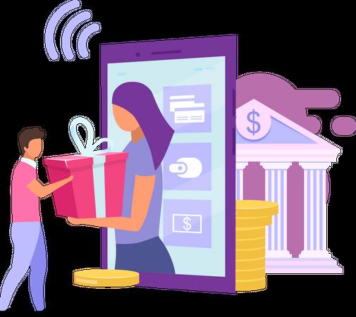 Bank account bonuses Illustration