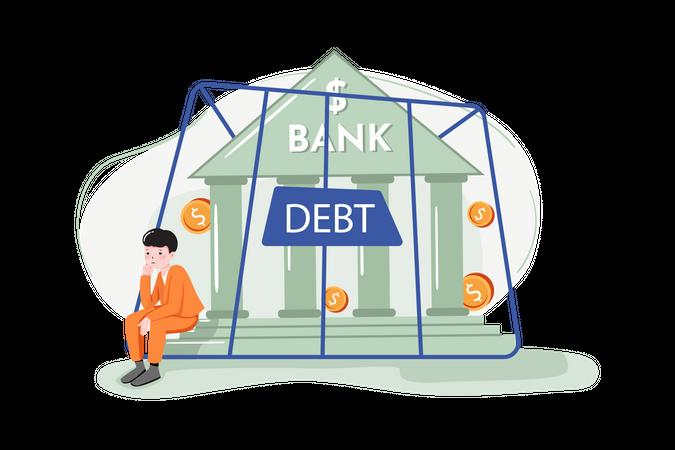 Bank debt Illustration