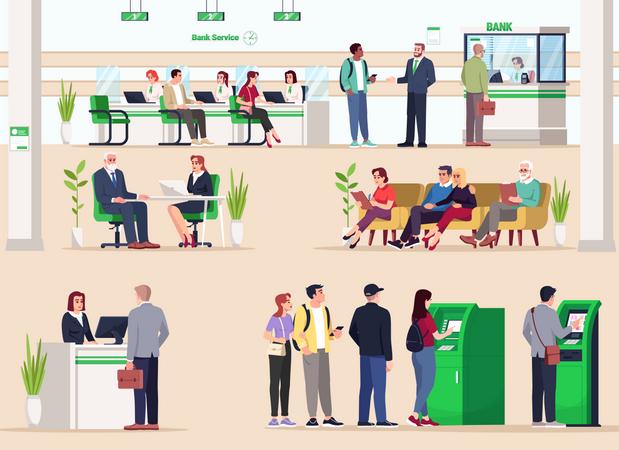 Bank lobby Illustration
