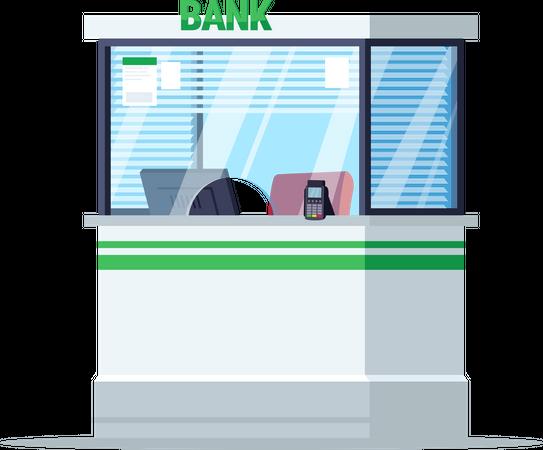 Bank reception window Illustration