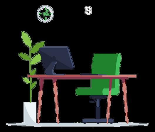 Bank Support Desk Illustration