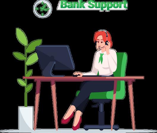 Bank support executive Illustration