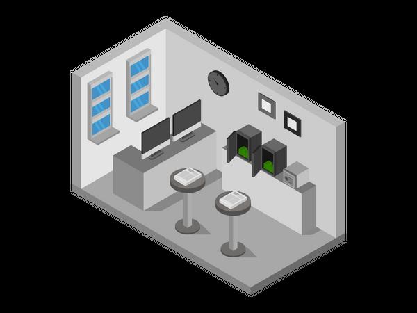 Bank Vault Room Illustration