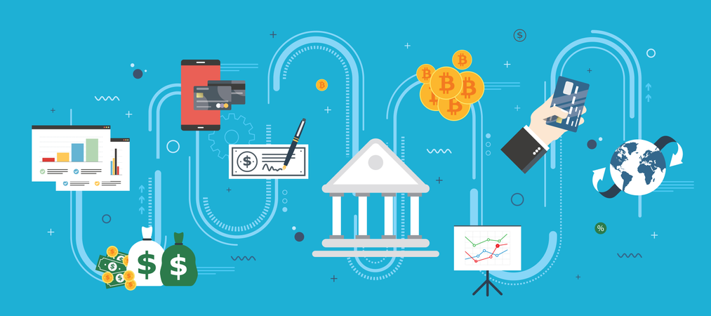 Banking and finance Illustration