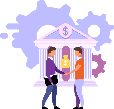 Banking deals and offers Illustration