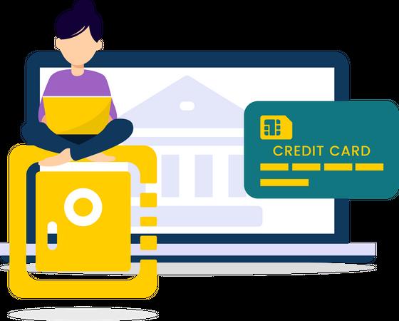 Banking Online Illustration