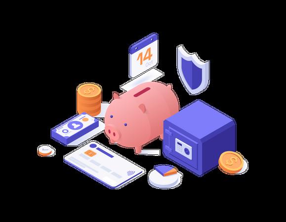 Banking service Illustration