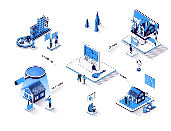 Banking services Illustration