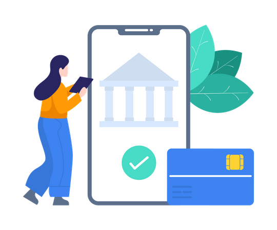 Banking Technology Illustration