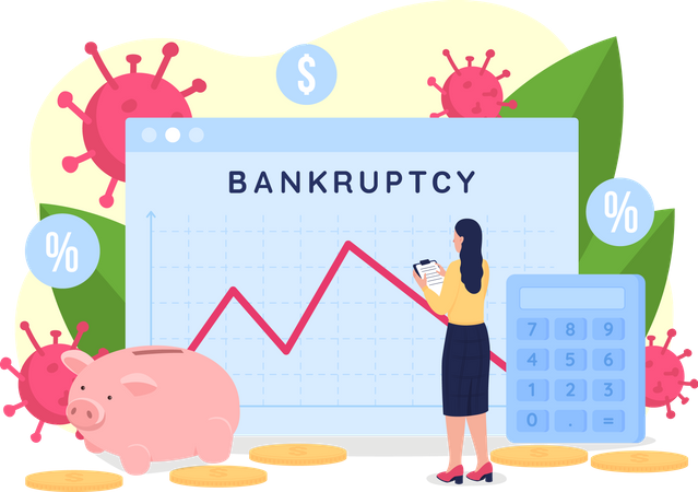 Bankruptcy analytics Illustration