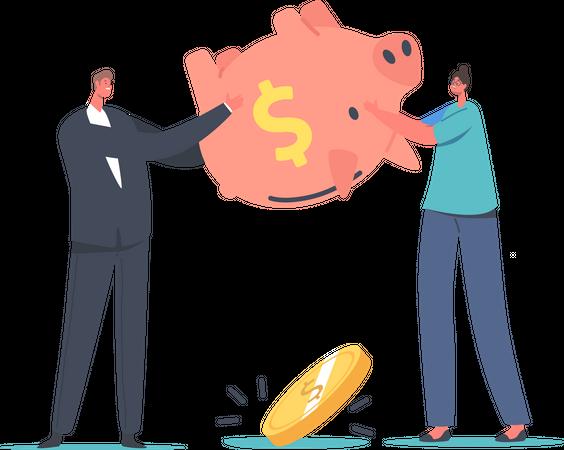 Bankruptcy Budget Deficit Illustration