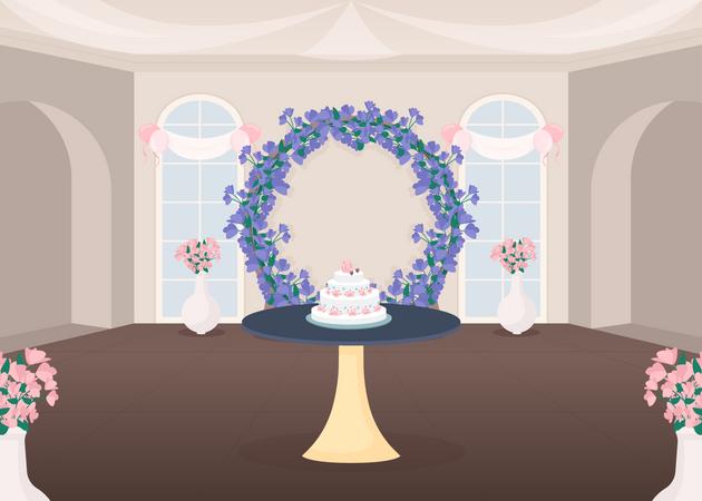 Banquet hall Illustration