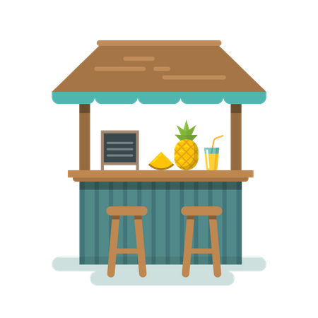 Bar counter Illustration
