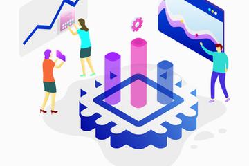 Isometric Data Analytics Illustration Pack