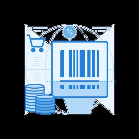 Barcode Scan Illustration