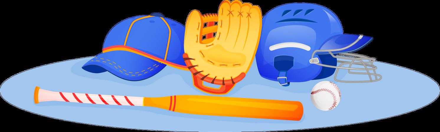 Baseball Equipment Illustration