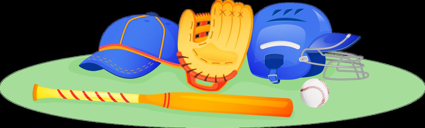 Baseball gear Illustration