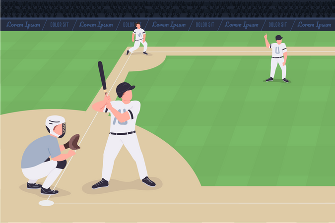 Baseball match Illustration
