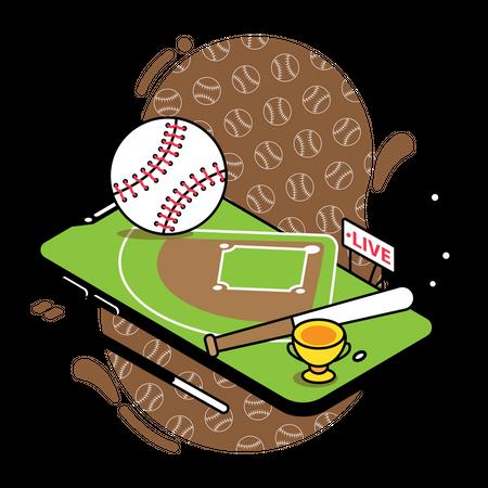 Baseball match live streaming Illustration