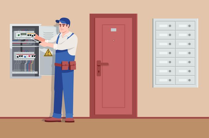Basic electrical service Illustration