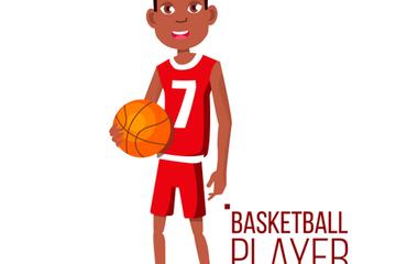Basketball Player Child Illustration Pack