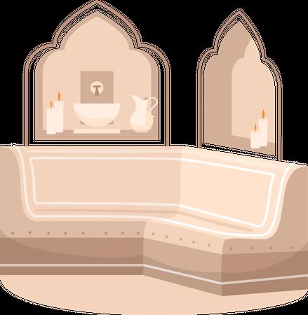 Bathhouse Illustration