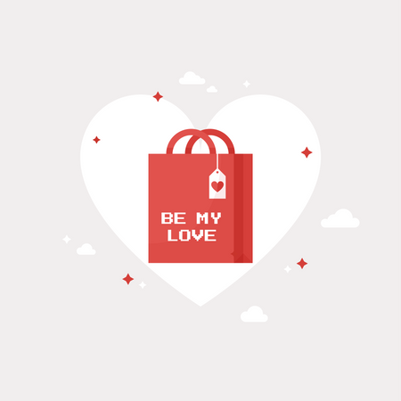 Be My Love Shopping Bag Illustration